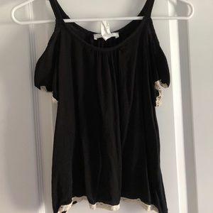 Tops - Black Croptop Shirt